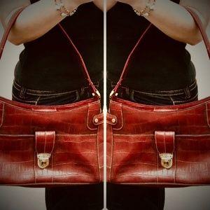 Liz Claiborne Faux Croc Handbag